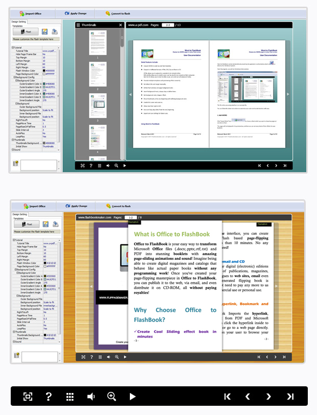 Office to FlashBook full screenshot