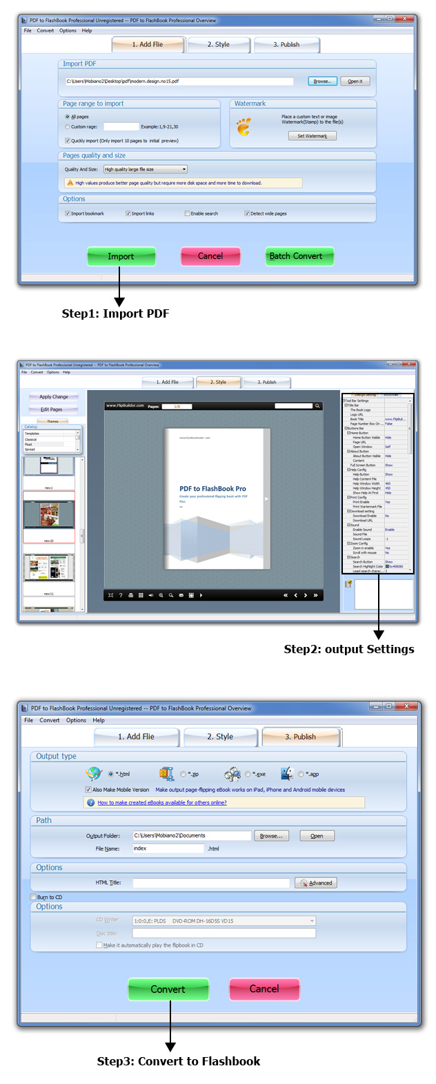 PDF to FlashBook Professional 2.9 full