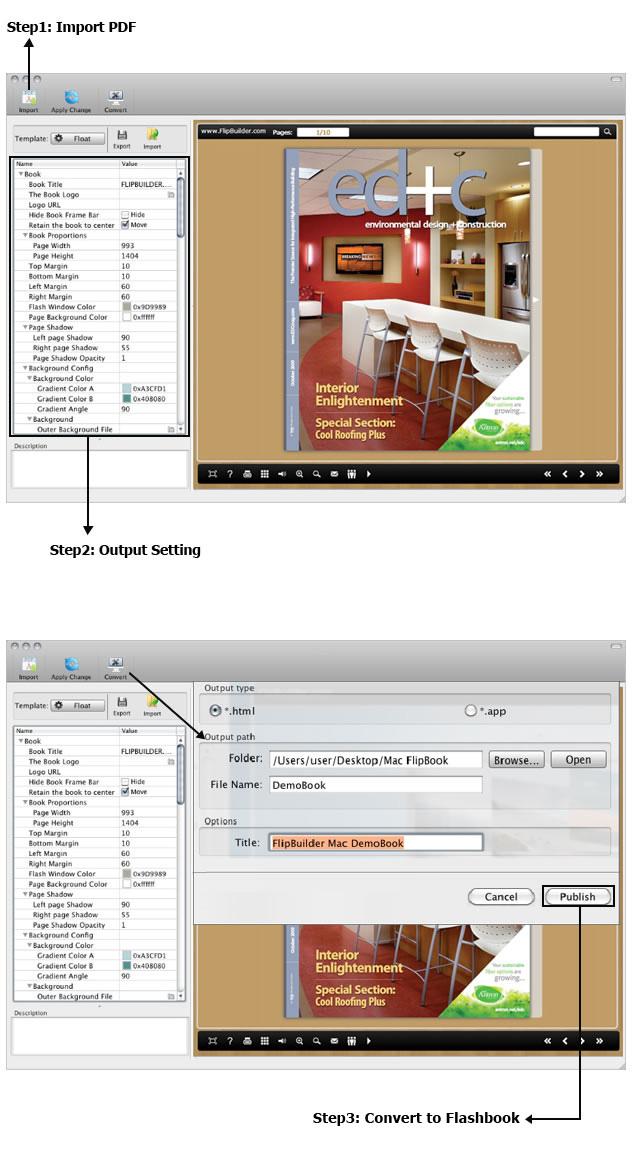 PDF to FlashBook Standard for MAC full screenshot