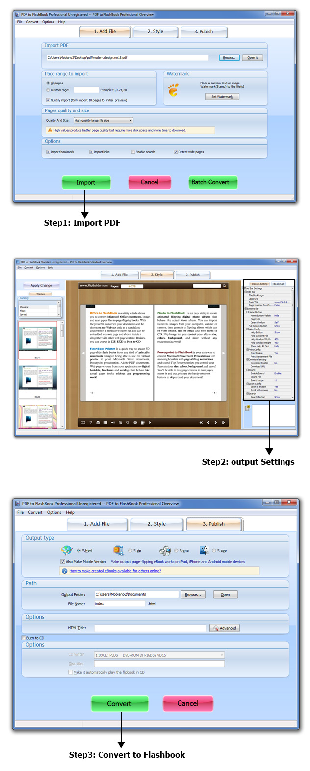 PDF to FlashBook Standard Screenshot